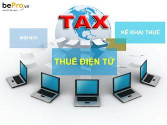 Hướng dẫn kê khai thuế điện tử