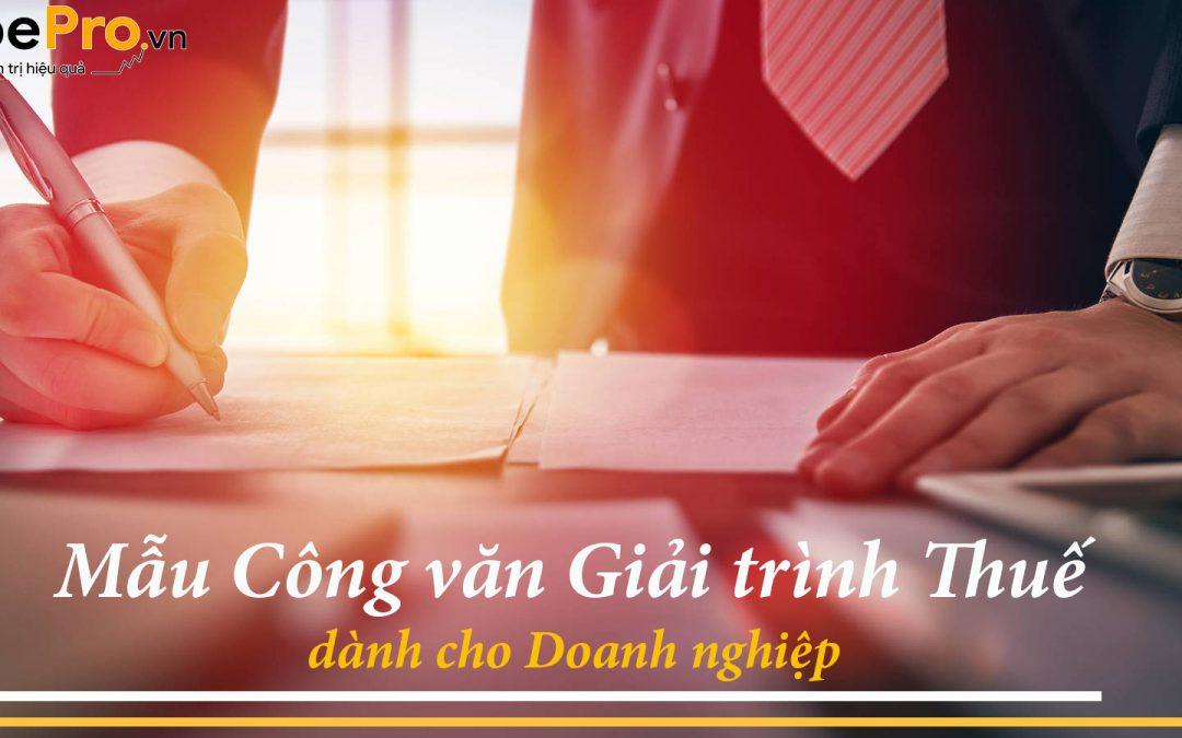 Mẫu công văn giải trình thuế dành cho doanh nghiệp
