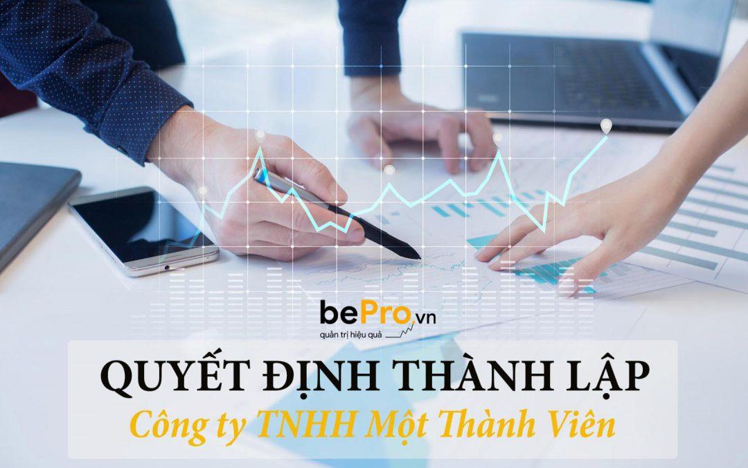 Quyết định thành lập công ty TNHH một thành viên