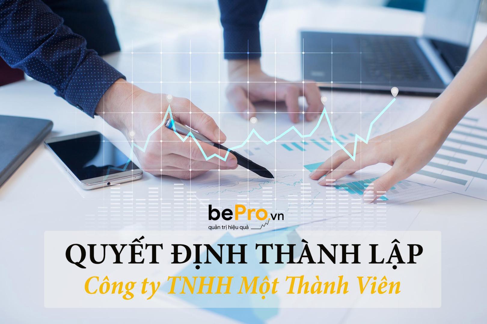 Quyết định thành lập công ty TNHH 1 thành viên