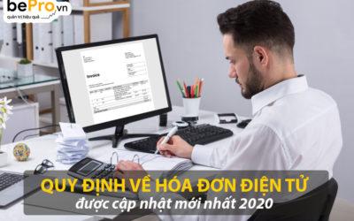Quy định về hóa đơn điện tử được cập nhật mới nhất 2020