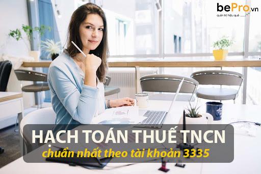 Hạch toán thuế TNCN tài khoản 3335 mới nhất