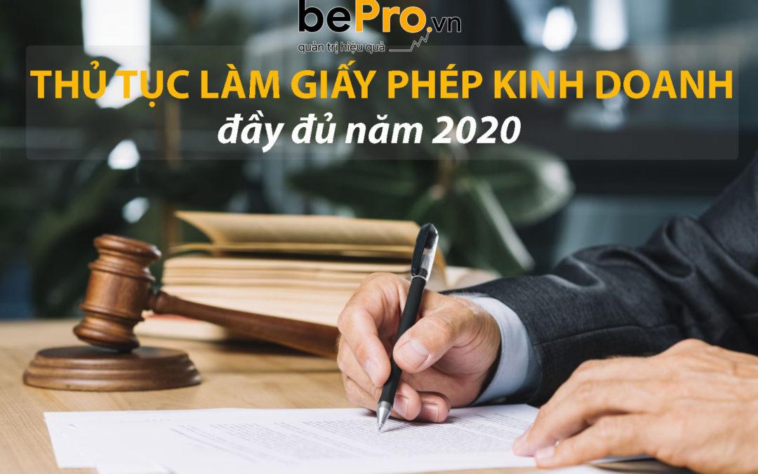 Thủ tục làm giấy phép kinh doanh đầy đủ năm 2021